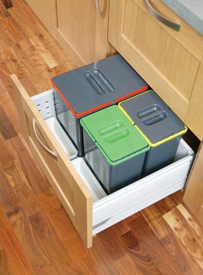 Kitchen Recycling Waste Bins Tandembox Pan Drawers 600